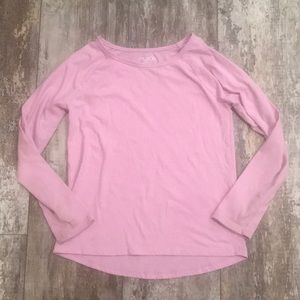 CHILDRENS PLACE SIZE LARGE 10/12 PURPLE LONG TEE